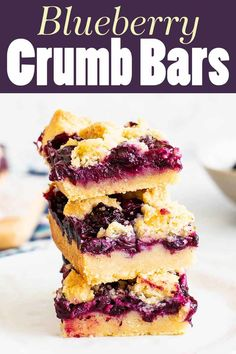 Don't feel like fussing with pie but still want a blueberry treat? These crumb bars with their jammy sweet berry filling should do the job nicely! #barcookies #blueberry #simplyrecipes