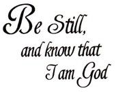 Be Still ... Christian bible verse rubber stamp No.16. $6.00, via Etsy.