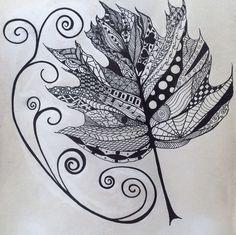 Maple leaf zentangle