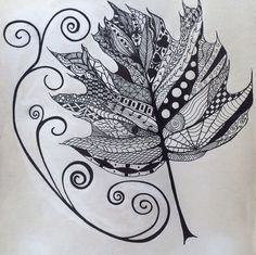 maple drawings zentangle leaf doodle easy drawing face pencil patterns disney doodles zentangles coloring