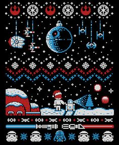 cross stitch pattern Star Wars by Happypuzzle on Etsy
