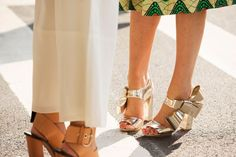 Is there anything more delightful than gold Delpozo heels with a giant bow accent? Didn't think so.