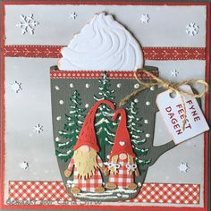 Christmas Cards 2018, Christmas Paper Crafts, Xmas Cards, Holiday Cards, Card Making Inspiration, Making Ideas, Cricut Cards, Marianne Design, Card Patterns