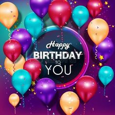 Happy Birthday Wishes Greetings For Friends And Colleges Happy Birthday Ballons, Happy Birthday Cousin, Happy Birthday Video, Happy Birthday Celebration, Happy Balloons, Birthday Gifs, Birthday Quotes, Happy Birthday Gif Images, Happy Birthday Wishes Photos