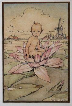 Anton Pieck - geboortekaartje