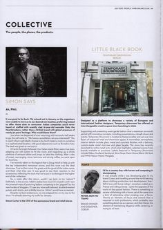 Menswear Buyer Magazine July 2013