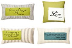 WANT IT :: Some more French Laundry Home pillows from One Kings Lane I like...I love the mossy green & neutrals combo! And I just liked the style of that one teal pillow, too.   #frenchlaundryhome #onekingslane #pillows