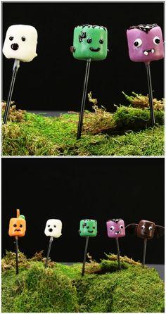 Cute Halloween Marsh-Monsters: