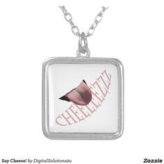 Say Cheese! Square Pendant Necklace