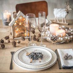 Suspension de Noël renne imitation fourrure grise   Maisons du Monde