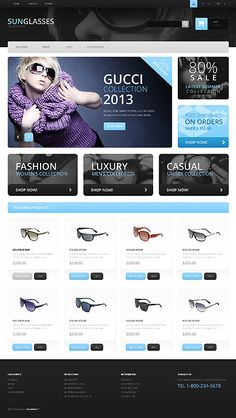 off all e-Commerce themes 'till Oct. Fashion Website Design, Layout Site, Gucci Sale, Something About You, Cool Themes, User Interface Design, Web Design Inspiration, Website Template, Ui Design