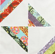 Butterfly Strands by Fresh Lemons : Faith, via Flickr - might be a neat jelly roll quilt project!