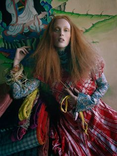 """""""In the Land of Dreamy Dreams"""" Karen Elson by Tim Walker for Vogue UK May 2015"""