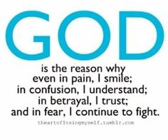 God is the reason.