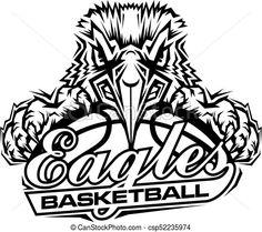 bfa9f7854 Vector - eagles basketball - stock illustration, royalty free  illustrations, stock clip art icon