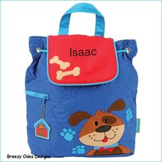 Bag, Tote, Diaper, School, Toddler, Kids, Preschool, Knapsack, Bookbag, Overnight, Summer Camp, Personalized Stephen Joseph Dog Backpack