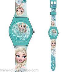 #Disney #Armband Uhr Analog Kinderuhr #Frozen Kinder Silikon Armbanduhr