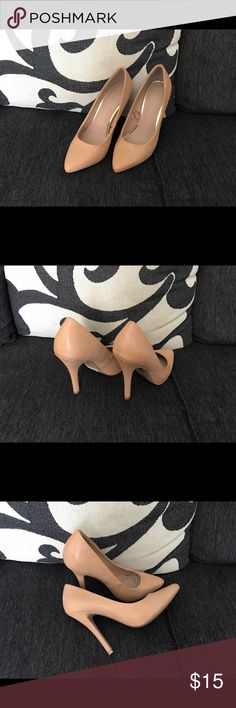 Forever 21 - Nude Pointed Toe Pump! Beautiful Forever 21 Nude Pointed Toe Pump Size 6! Fits More Like 5.5! In New Condition! Happy Poshing. Forever 21 Shoes Heels