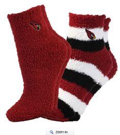 For Bare Feet Arizona Cardinals Women's Slippers 2-Pack Socks. #AZCardinals #NFLFanStyle