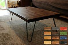 Rustic-Vintage-Industrial-Wood-Coffee-Table-Metal-Hairpin-Legs