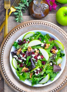 Tossed Salad with Apple Butter Vinaigrette