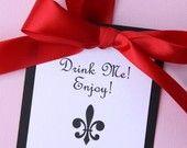 Personalized Wine Tags - Fleur De Lis