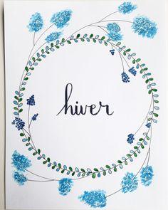 Idée tableau : des saisons , avec des végétaux que l ' on trouve en hiver ........etc