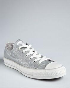 Converse Chuck Taylor Sneakers - Herringbone Glitter | Bloomingdale's