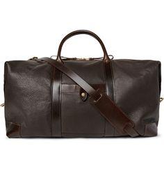 Icon Weekender Full-Grain Leather Holdall | MR PORTER