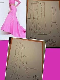 Best 11 Need to study more. Would be awesome in burgundy satin with a sheer b… – awesome burgundy costura Costurafacil cute – SkillOfKing. Mermaid Skirt Pattern, Circle Skirt Pattern, Gown Pattern, Skirt Patterns Sewing, Clothing Patterns, Pattern Sewing, Fashion Sewing, Diy Fashion, Sewing Clothes