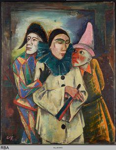 Karl Hofer, Maskerade, 1922, Öl auf Leinwand, 129 x 103 cm, Museum Ludwig