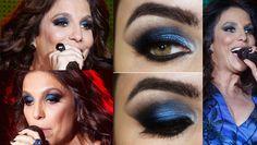 Tutorial – maquiagem azul e preta inspirada na usada por Ivete Sangalo no Rock in Rio Rio, Halloween Face Makeup, Eyes, Beauty, Blue Makeup, Pictures Of Makeup, Makeup Step By Step, Lipstick, Beauty Illustration