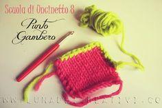 LUNAdei Creativi | Punto Gambero - Scuola di Uncinetto - Lezione 8 | http://lunadeicreativi.com