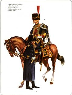 Officer, mounted, and sergeant major Imperial Guard Horse Artillery 1807