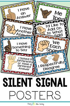 These number talk hand signal posters will look adorable in the classroom and will help your students create a rich, calm number talk learning environment. Grab your set today! First Grade Lessons, First Grade Activities, Teaching First Grade, First Grade Math, Math Lessons, Fourth Grade, Grade 1, Second Grade, Classroom Hand Signals
