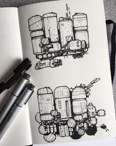Spaceship Art, Spaceship Design, Spaceship Concept, Planet Sketch, Ship Sketch, Ink Pen Art, Alien Concept Art, Doodle Art Drawing, Grenades