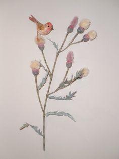 """Rose Finch"" by Emily Sutton Bird Sculpture, Sculptures, Museum Of Childhood, Embroidered Bird, Arts And Crafts, Paper Crafts, Love Birds, Journal Ideas, Spy"