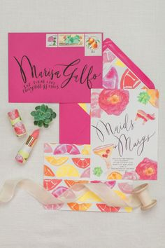 Maids + Margs themed bridesmaid ask invitations: http://www.stylemepretty.com/2015/12/01/blogger-bride-margs-maids-with-dressed-by-jess/ | Photography: Love & Light Photographs - http://www.loveandlightphotographs.com/