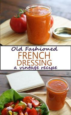 Old Fashioned French Dressing - Dressing / Dips / Soße / Brotaufstrich - Salad French Salad Dressings, Salad Dressing Recipes, Homemade Salad Dressings, Vinegrette Salad Dressing, Avacado Dressing, Balsamic Dressing, Sauce Recipes, Seafood Recipes, Cooking Recipes