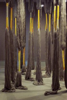 Sheila Hicks <3 photos simply don't do any sort of justice to the scale, color + intensity in her work.