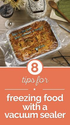 Latest Photos 8 Tips for Freezing Food with a Vacuum Sealer - thegoodstuff Suggestions Just about the most crucial troubles with the cooking is usually food storage area methods. For hu Sous Vide, Food Saver Vacuum Sealer, Canning Food Preservation, Preserving Food, Freezer Friendly Meals, Dehydrated Food, Survival Food, Emergency Preparedness, Freezer Cooking