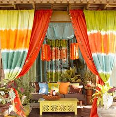 Colorful outdoor living...totally cool