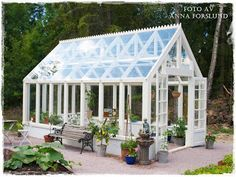 Build a greenhouse from old windows, how to. Build a greenhouse from old windows, how to. Lean To Greenhouse Kits, Greenhouse Plans, Window Greenhouse, Hydroponic Supplies, Greenhouse Supplies, Aluminium Greenhouse, Wooden Greenhouses, British Garden, Gardens