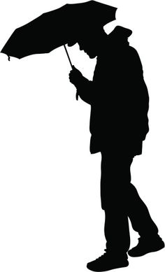 Vectores libres de derechos: Umbrella Man