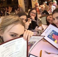 Lily Rose Depp and her friends