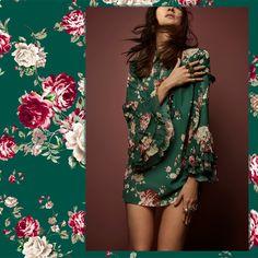 Cores e muito romantismo dão o tom do nosso vestido, com delicados babados nas mangas. Lindo demais, não é mesmo?   SHOP NOW: http://www.amissima.com.br/