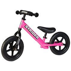 Strider 12 Sport No-Pedal Balance Bike, For 18 mos.- 5 years, Pink Strider