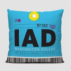 721cbb3c723 IAD - Throw Pillow Washington Dulles International Airport