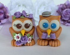 Tie Cake | Wedding owl cake topper, love bird with personalized accessories and ...