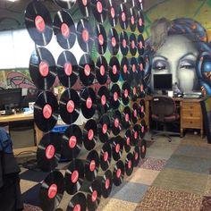 Vinyl Records Room Divider